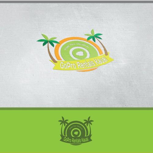 Logo for a hawaiian GoPro camera rental company