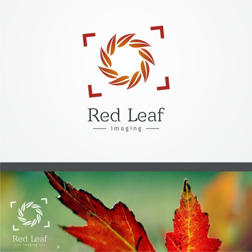 Create the next logo for Red Leaf Imaging