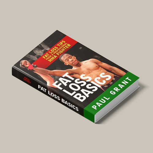 Book Cover Design for Fitness from MMA Fighter