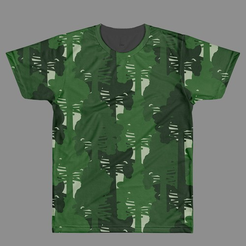 Camouflage trees apparel design