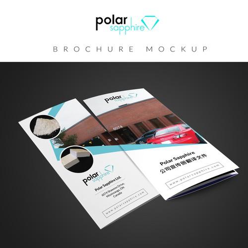 Create a captivating company brochure for Polar Sapphire!