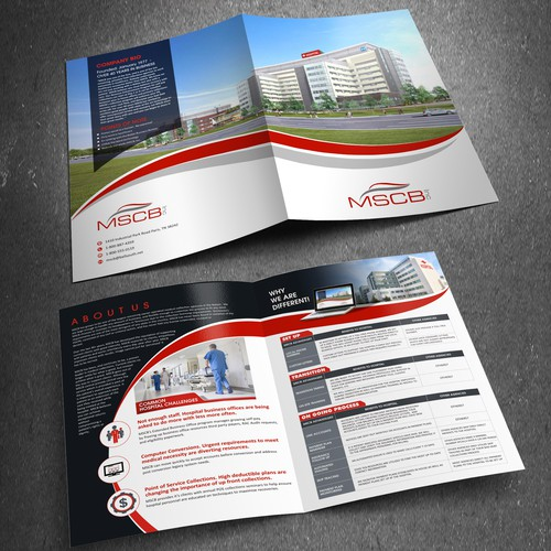Design a hip Brochure for a medical collections company