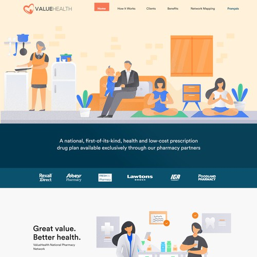 Valuehealth Web Design concept