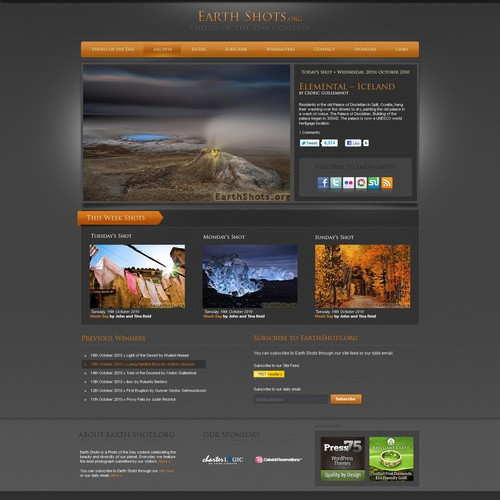 Beautiful new website design needed for EarthShots.org