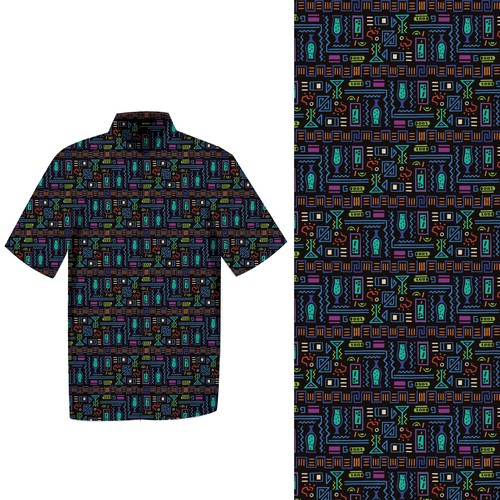 Repeating pattern for party shirt