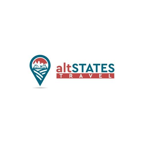 Rural Logo Concept for altSTATES TRAVEL