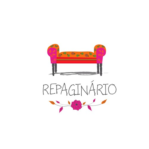 Furniture makers wanted a feminine and fun logo using a classic  furniture