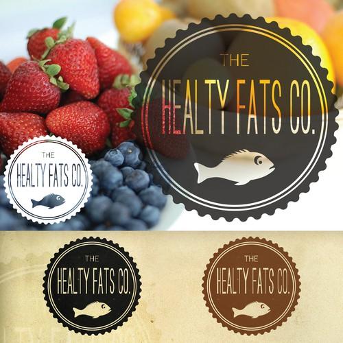 Vintage logo fof Healty Fats