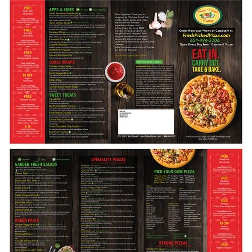 propuesta menu de pizza
