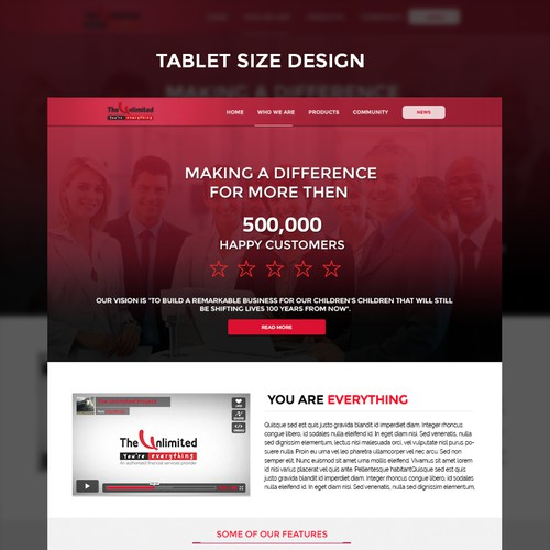 TV Channel Home Page Design