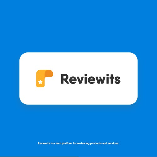 Modern logo for Reviewits