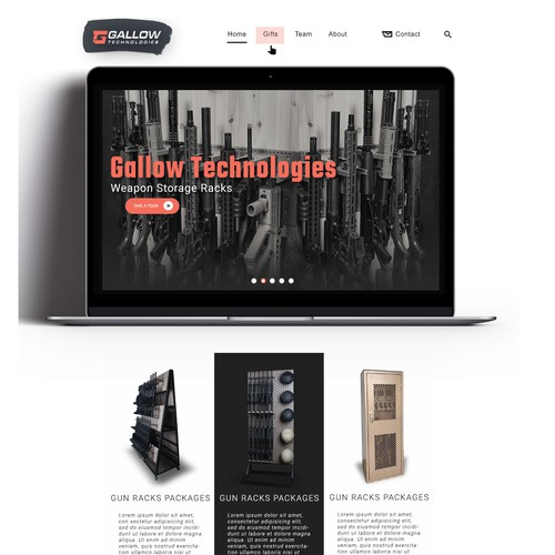 New cool new homepage design for gallow techniques