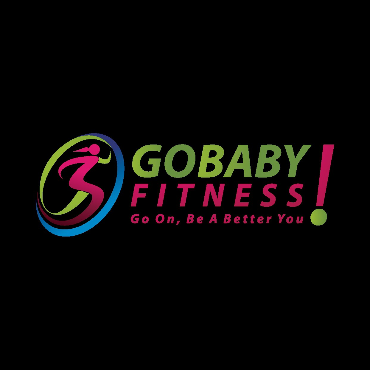 GOBABY Fitness Logo using an image you've already created