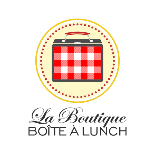 Create a logo for the store La boutique boîte à lunch (lunch box store)