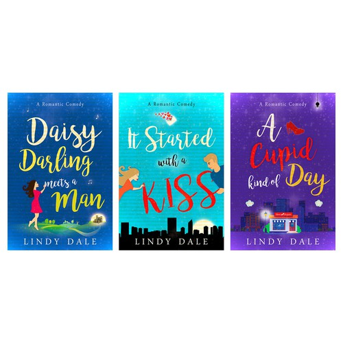 3 covers for e-books by the same author