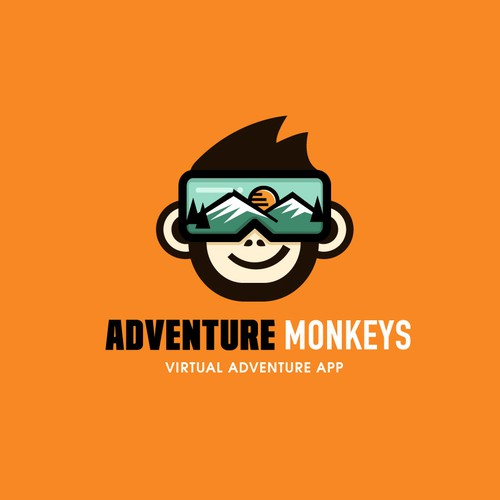 Bold + fun logo for a virtual adventure app