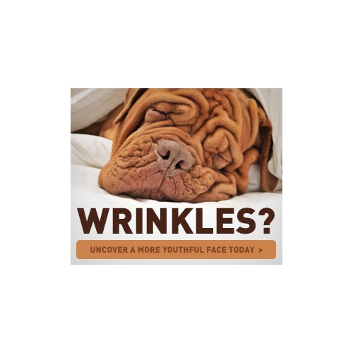 Wrinkle Product needs SHOCKING Banner Ad to get Eyeballs & Clicks!