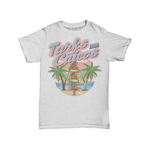 "T Shirt concept for ""Turks and Caicos"""