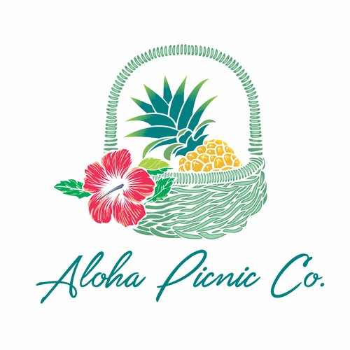 logo for aloha picnic co.