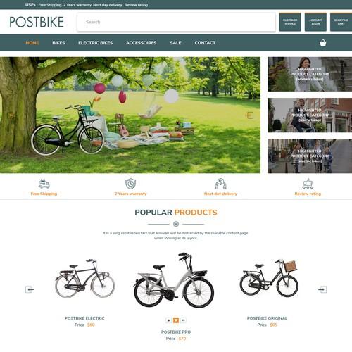 POSTBIKE Website Homepage.