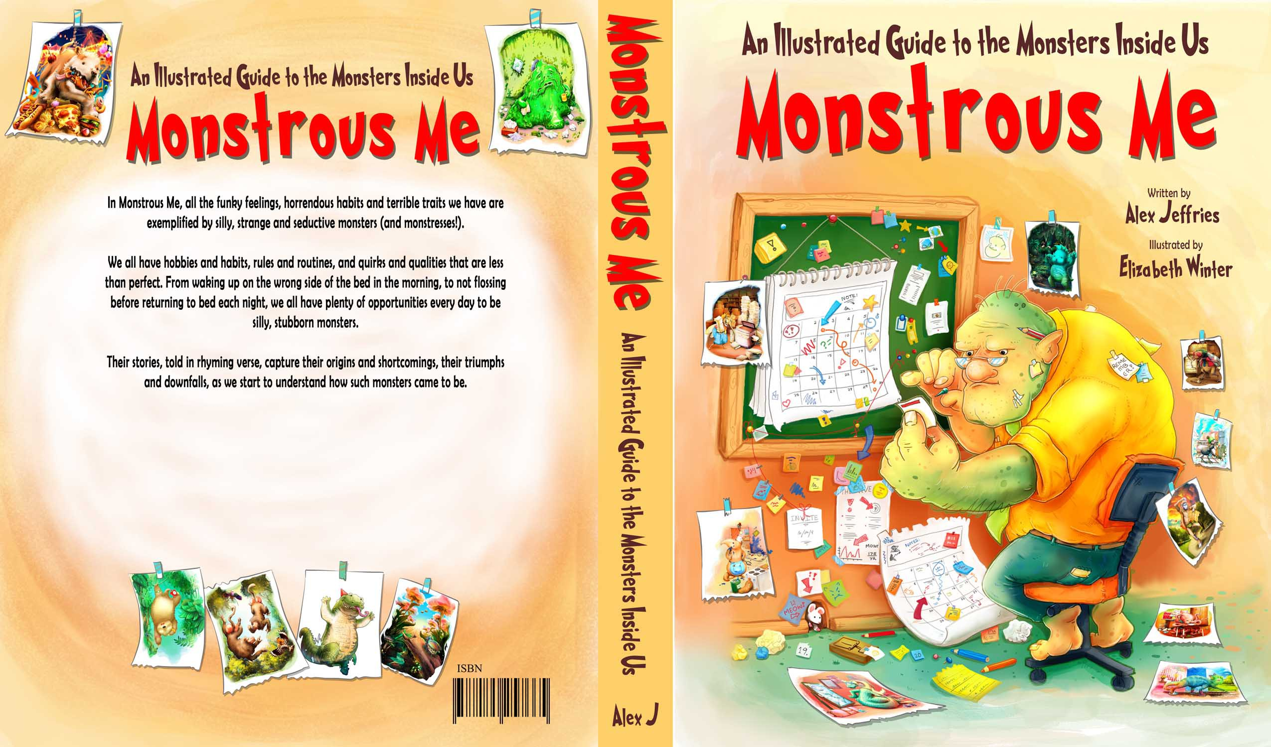 Design a children's book cover for Monstrous Me