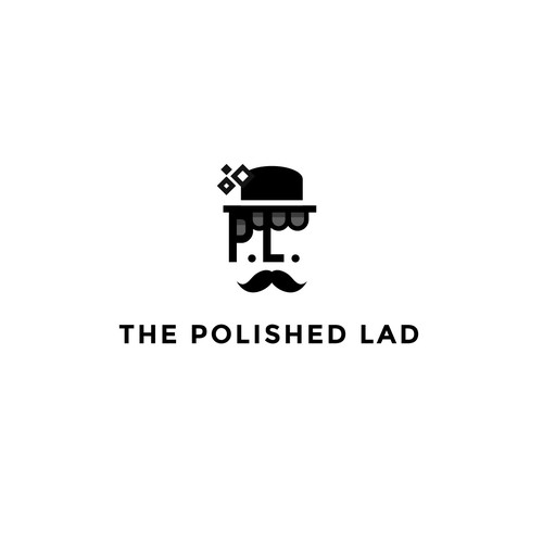 Logo concept for The Polished Lad