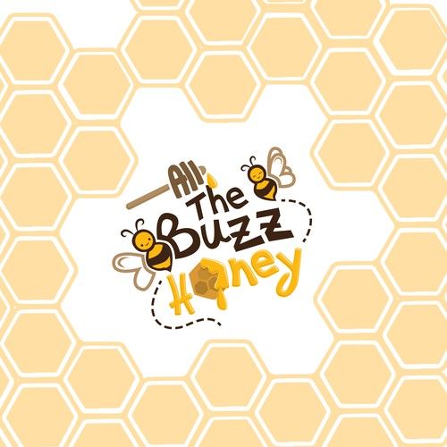 Playful and Youthful Logo for a Honey Brand