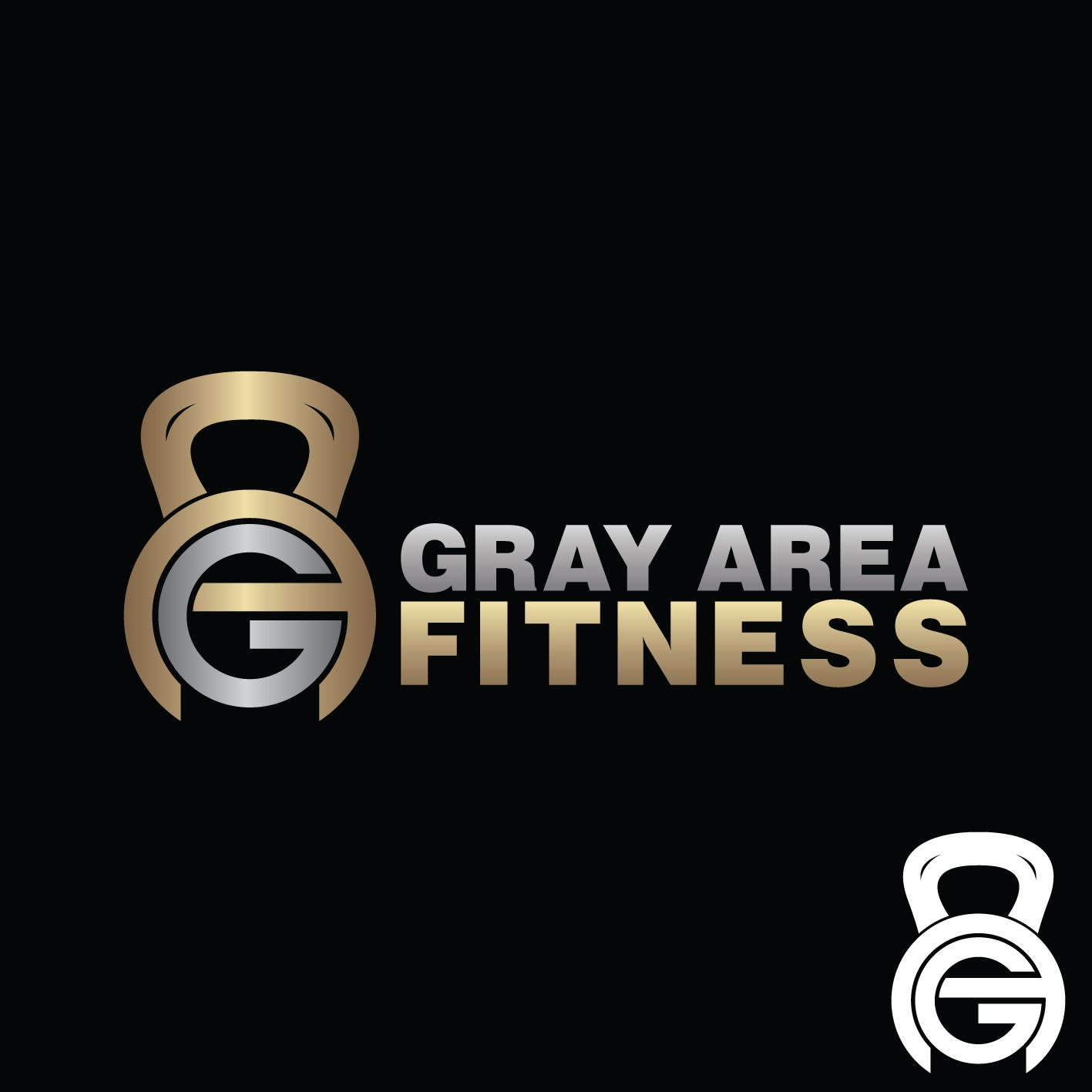 Create the logo for Gray Area Fitness!