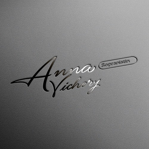 Anna Vichery logo design