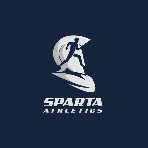 Negative space logo for Sparta Athletics