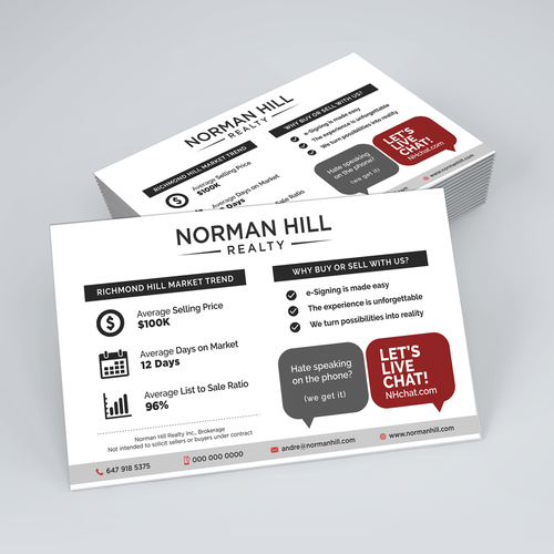 Flyer Design for Norman Hill Realty