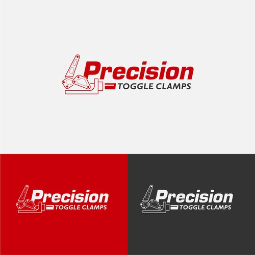 Strong logo concept for Precission toggle clamps.