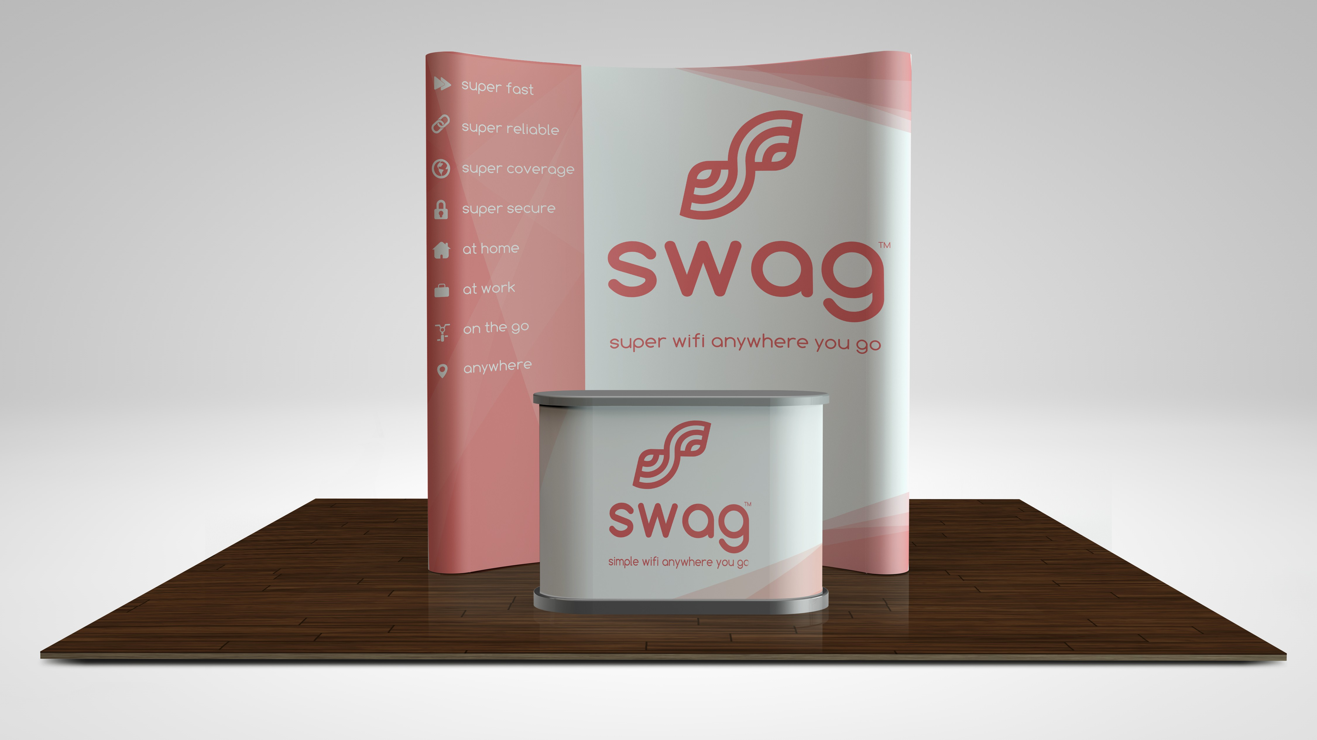 Trade show Booth design for swag