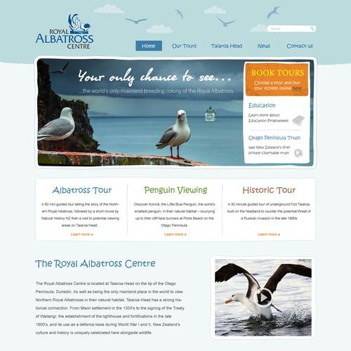 Web design for Royal Albatross Centre