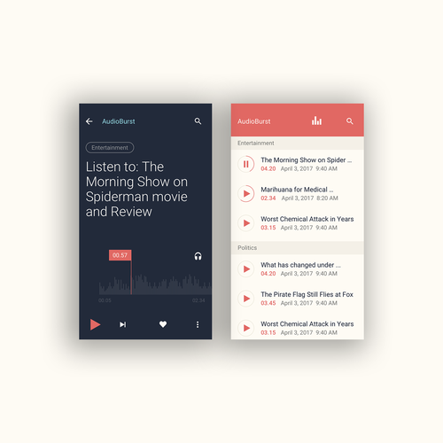 Audioburst Mobile Website Design