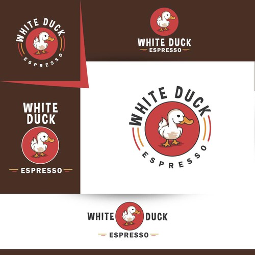 """White Duck Espresso"" logo design"