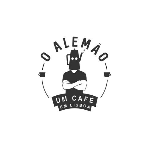 Hipster Café Logo Design
