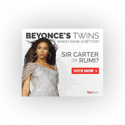 Banner Ad - Beyoncé Twins