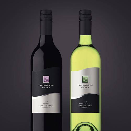 Modern yet classic label design for a boutique Australian wine