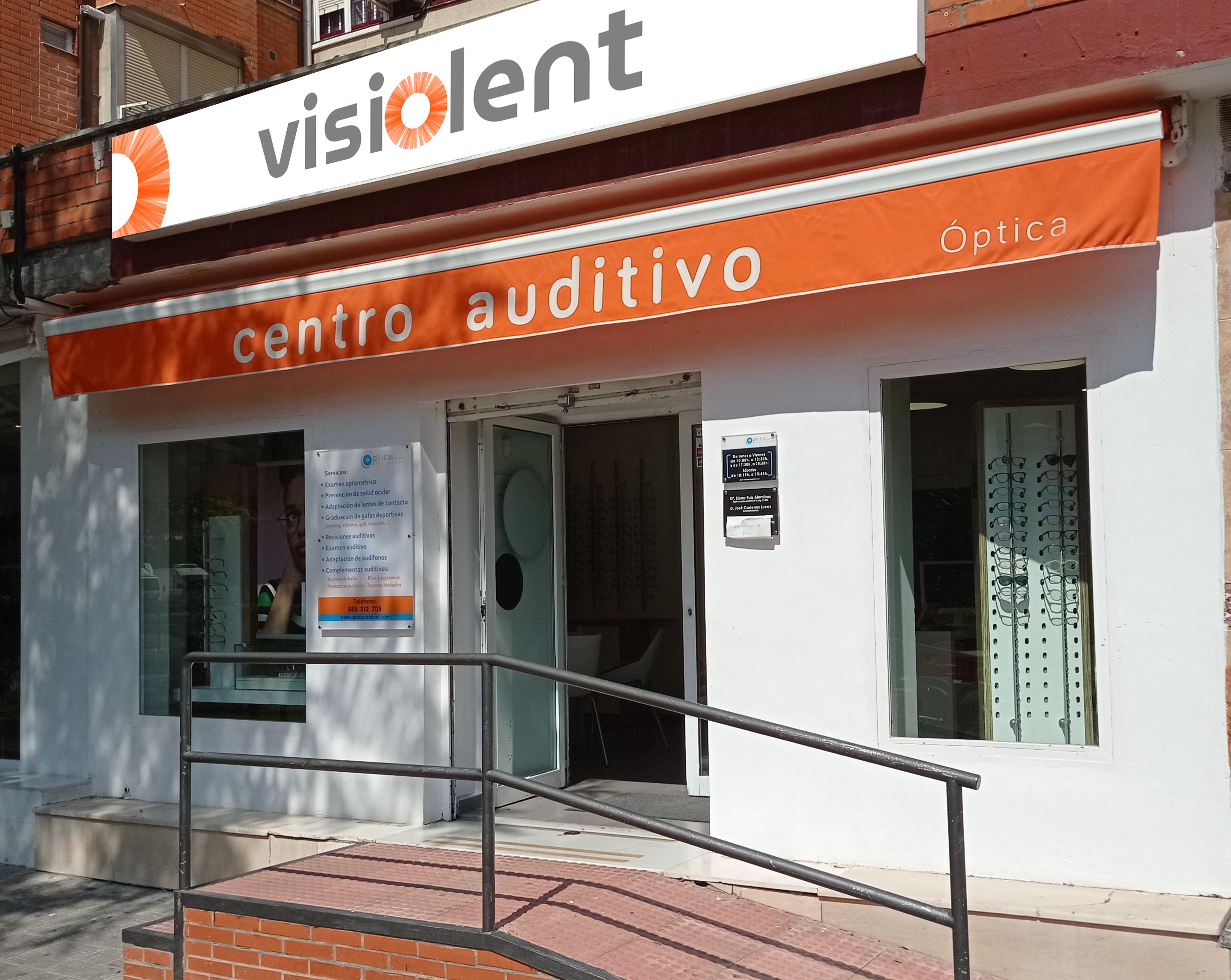 Logotipo Óptica y Centro Auditivo