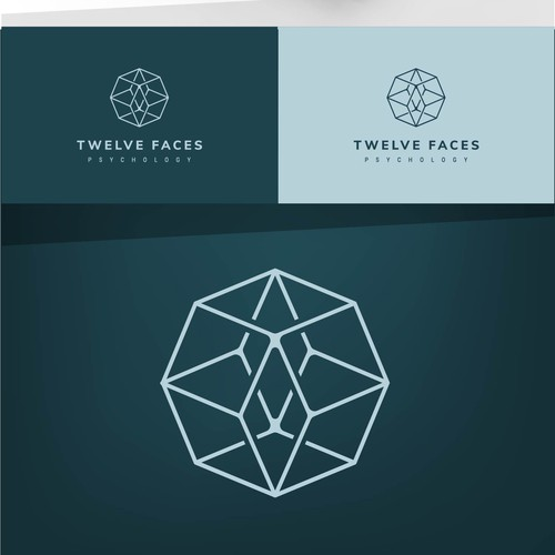 logo for TWELVE FACES PSYCHOLOGY