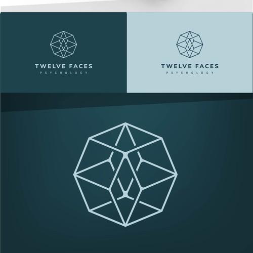 logo for TWELVE FACES PSYCHOLOGY