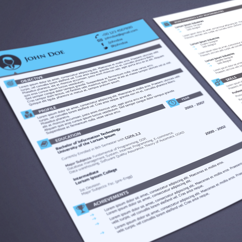 Help applicants get that job with your magnificent resume design