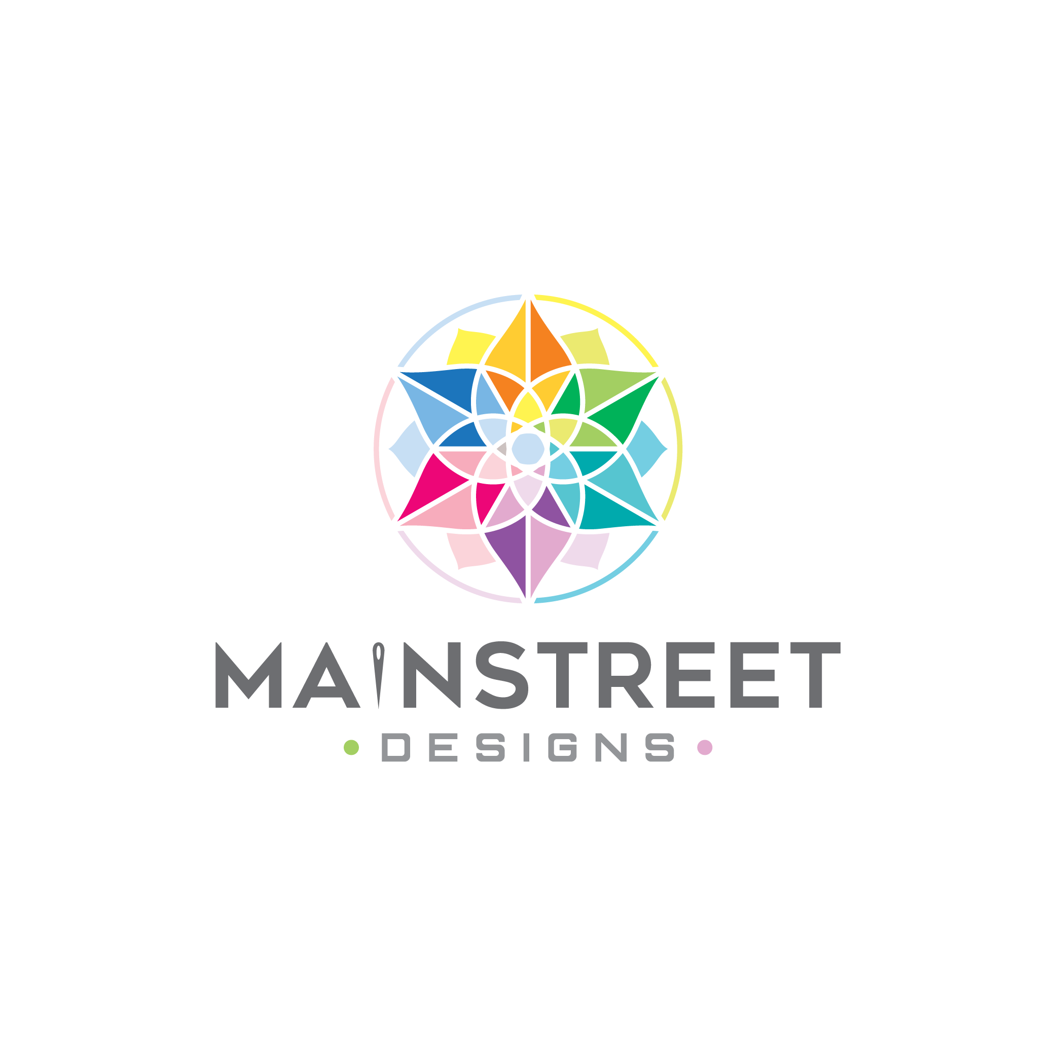 """Design a creative """"quilting related"""" logo for Mainstreet Designs"""