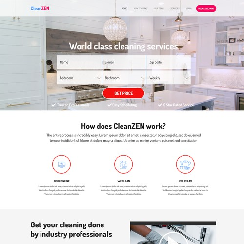 Clean modern website design