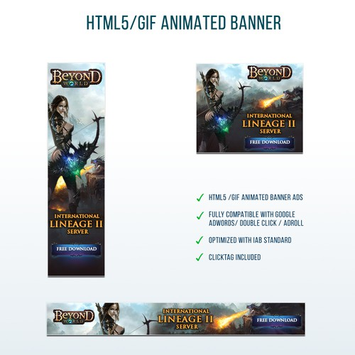 Banners for Lineage 2 gaming server