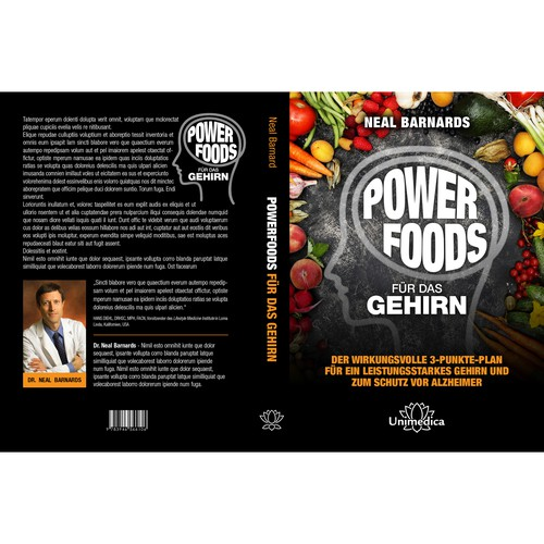 "Cover book ""Power Foods"" for Unimedica"