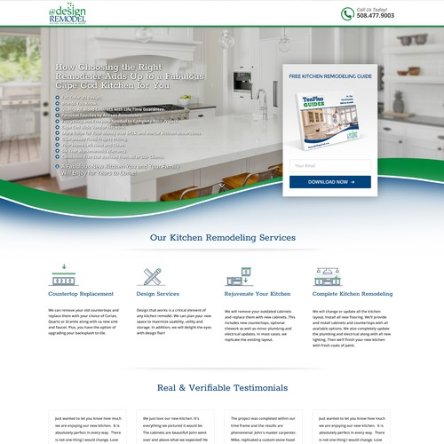 Lead Landing Page for @designREMODEL