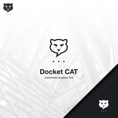 Simple panther chat combination logo