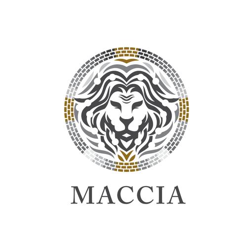 """Lion logo for """"Maccia"""""""